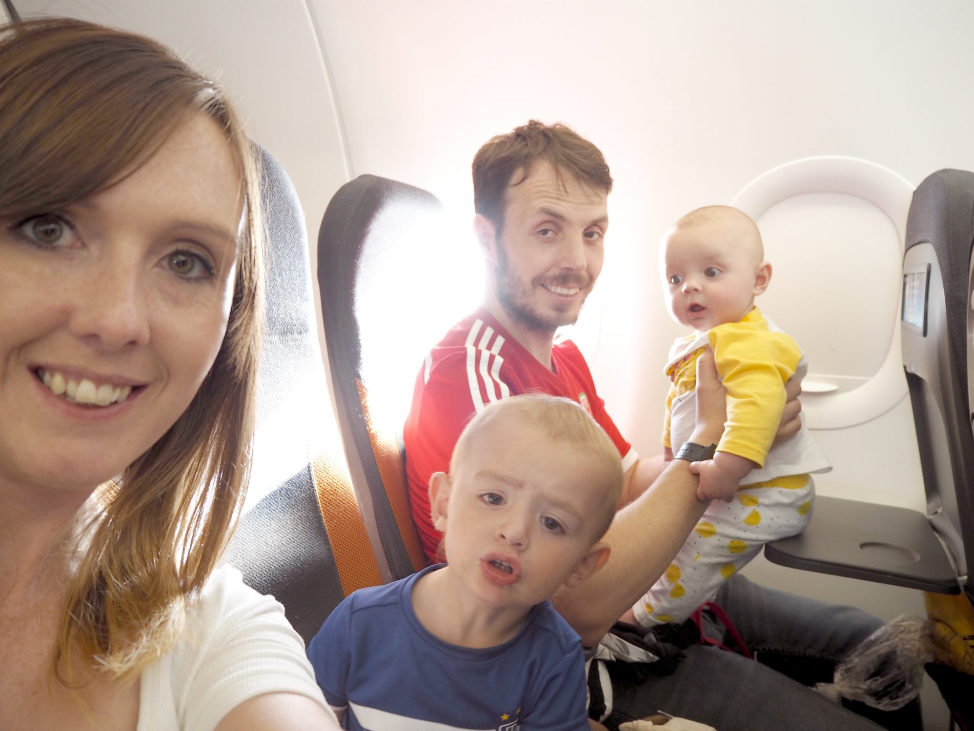 Eurocamp adventures part 1: Flying to Nice with a baby and toddler