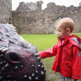 Dragon hunting at Kidwelly Castle