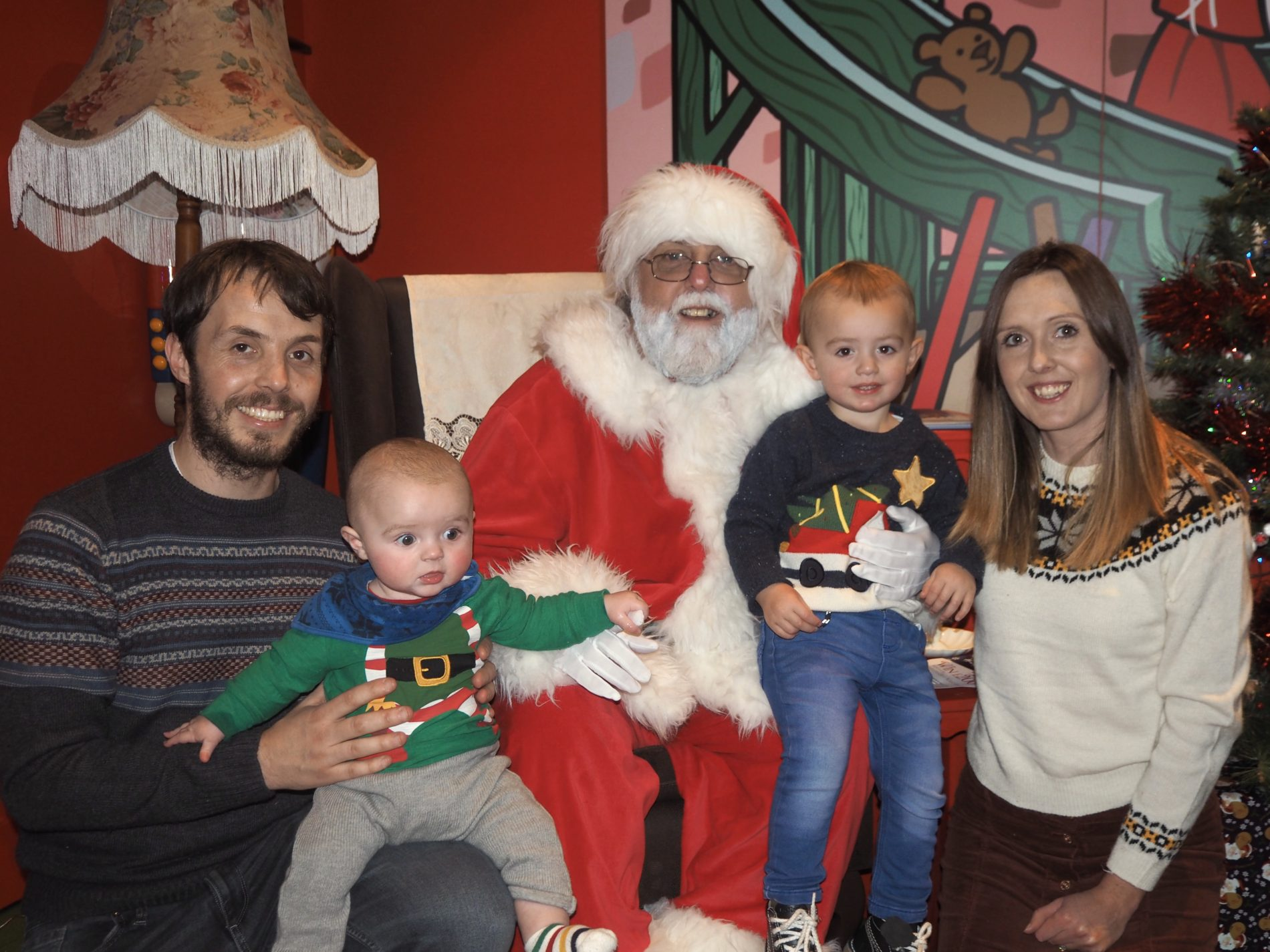 Meeting Father Christmas at Hamleys Cardiff
