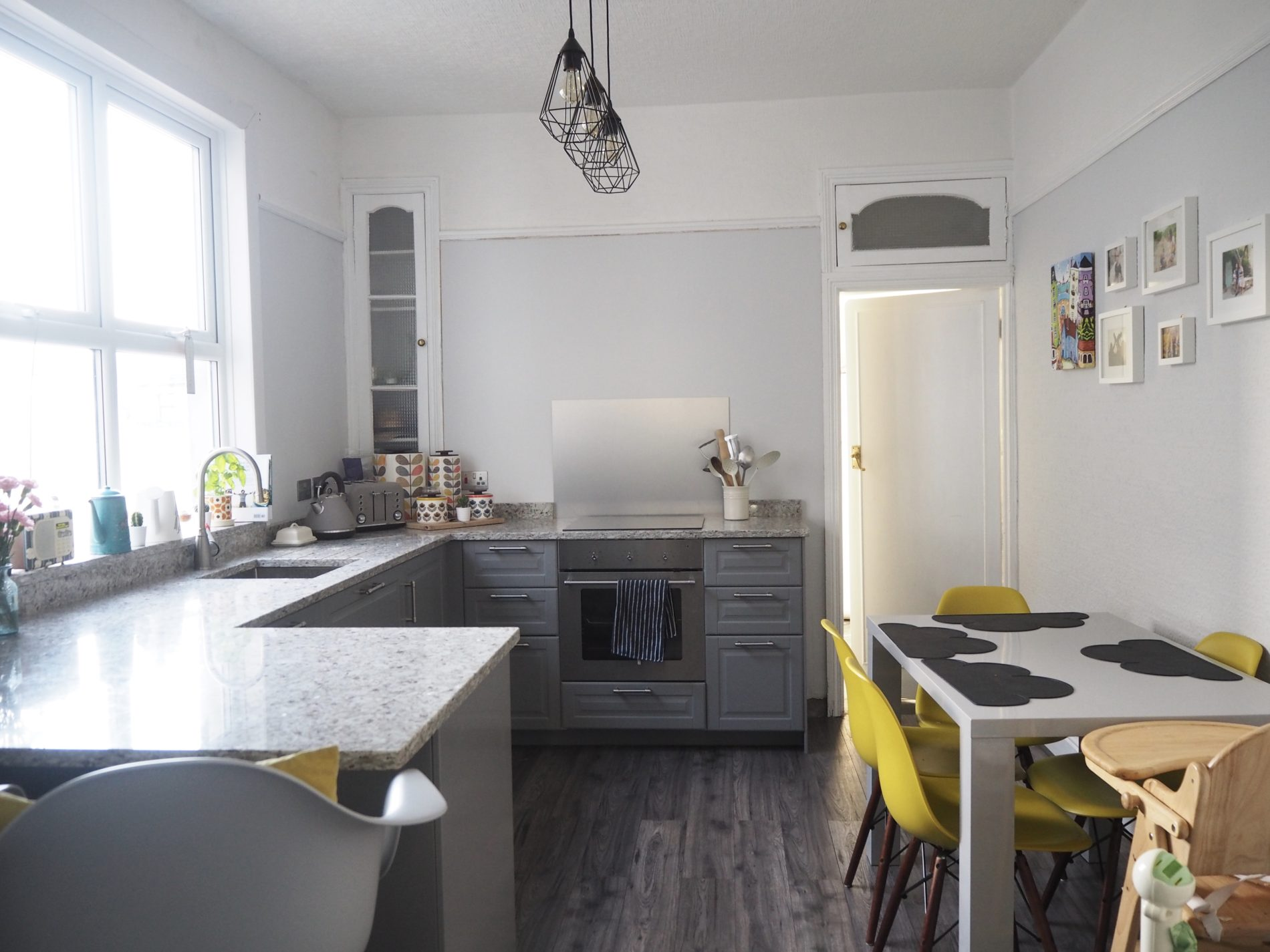 Grey IKEA kitchen / dining room makeover: The result