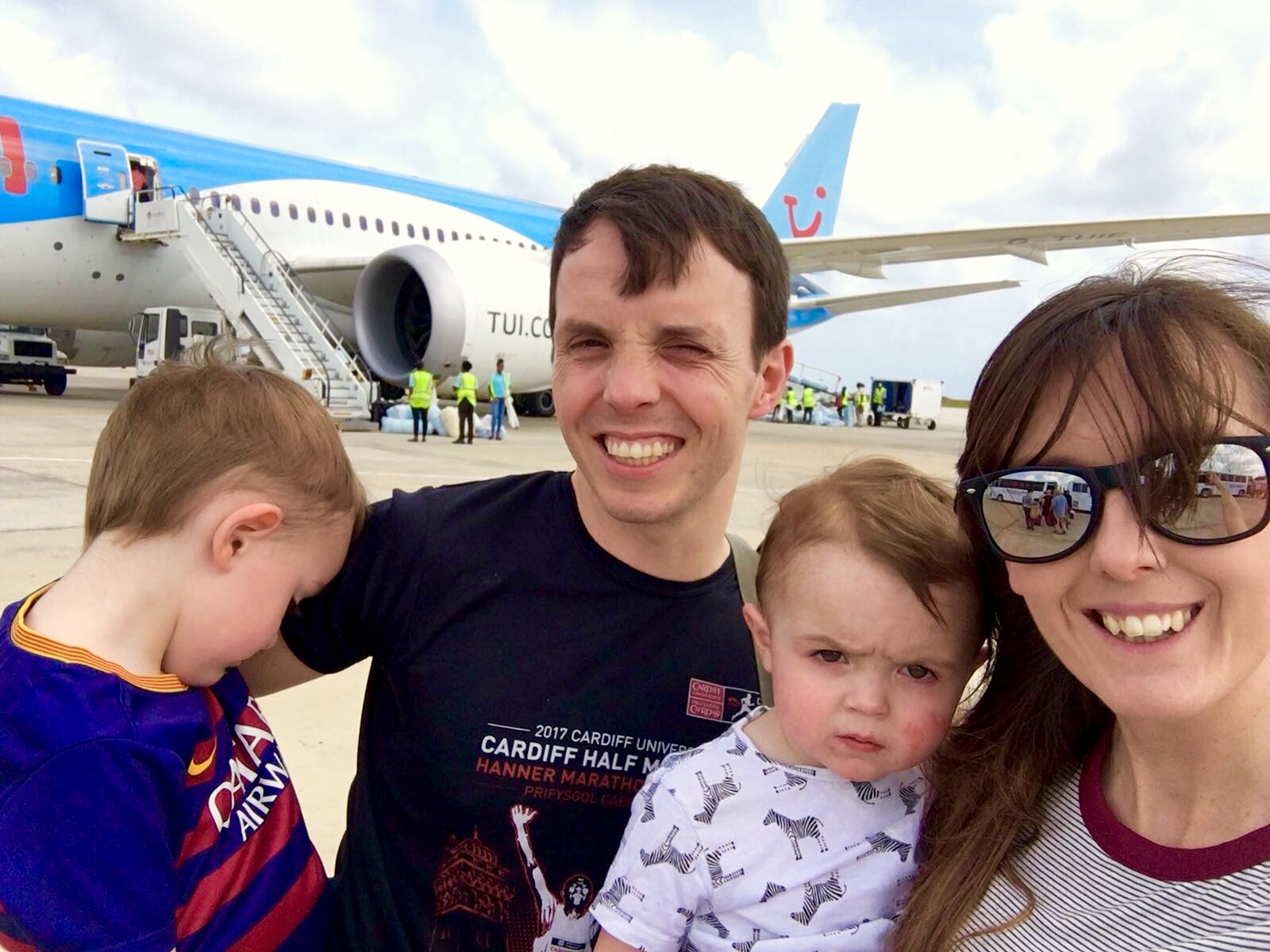 Long haul flight to Barbados with children {Caribbean cruise diary #1}