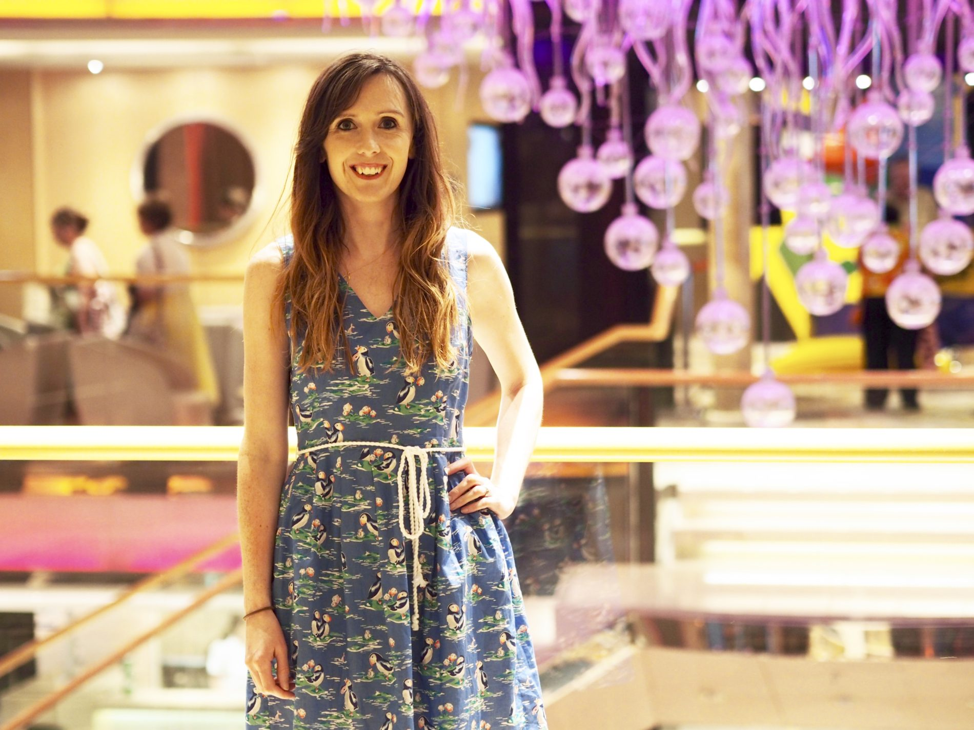 What mama wore: Cath Kidston puffin dress