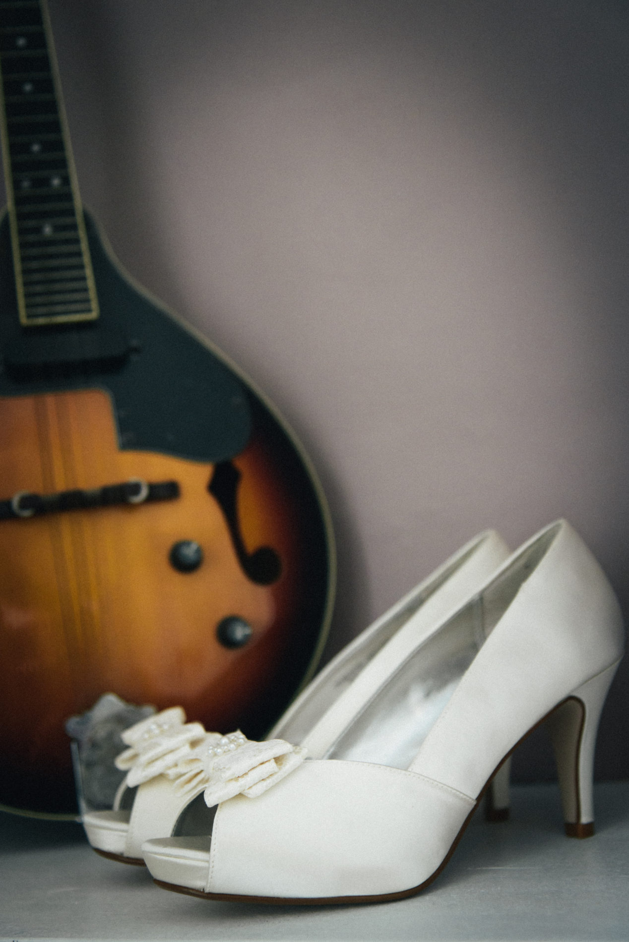 Ivory wedding shoes with a bow from Next