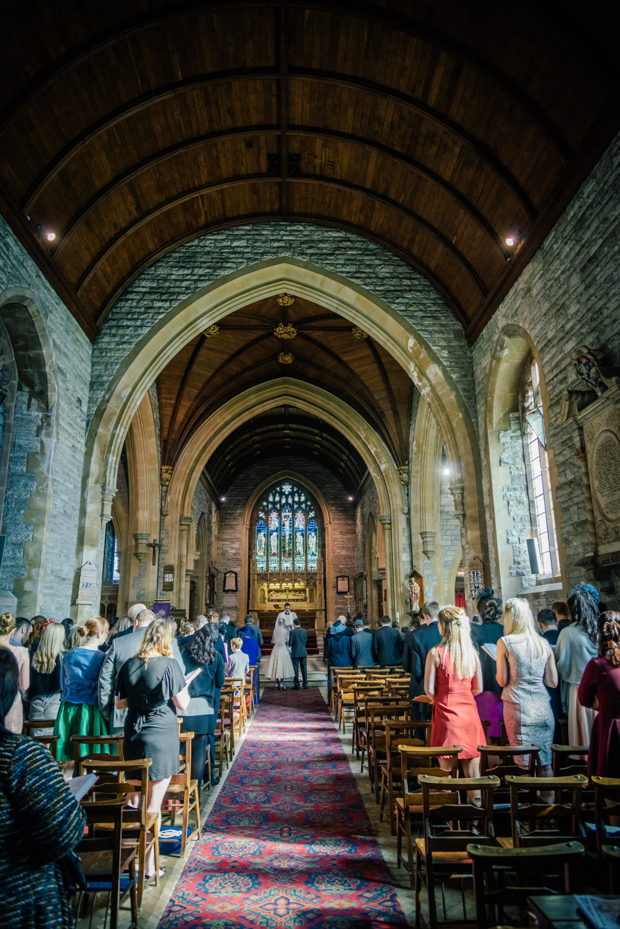 Wedding at Llanelli Parish Church