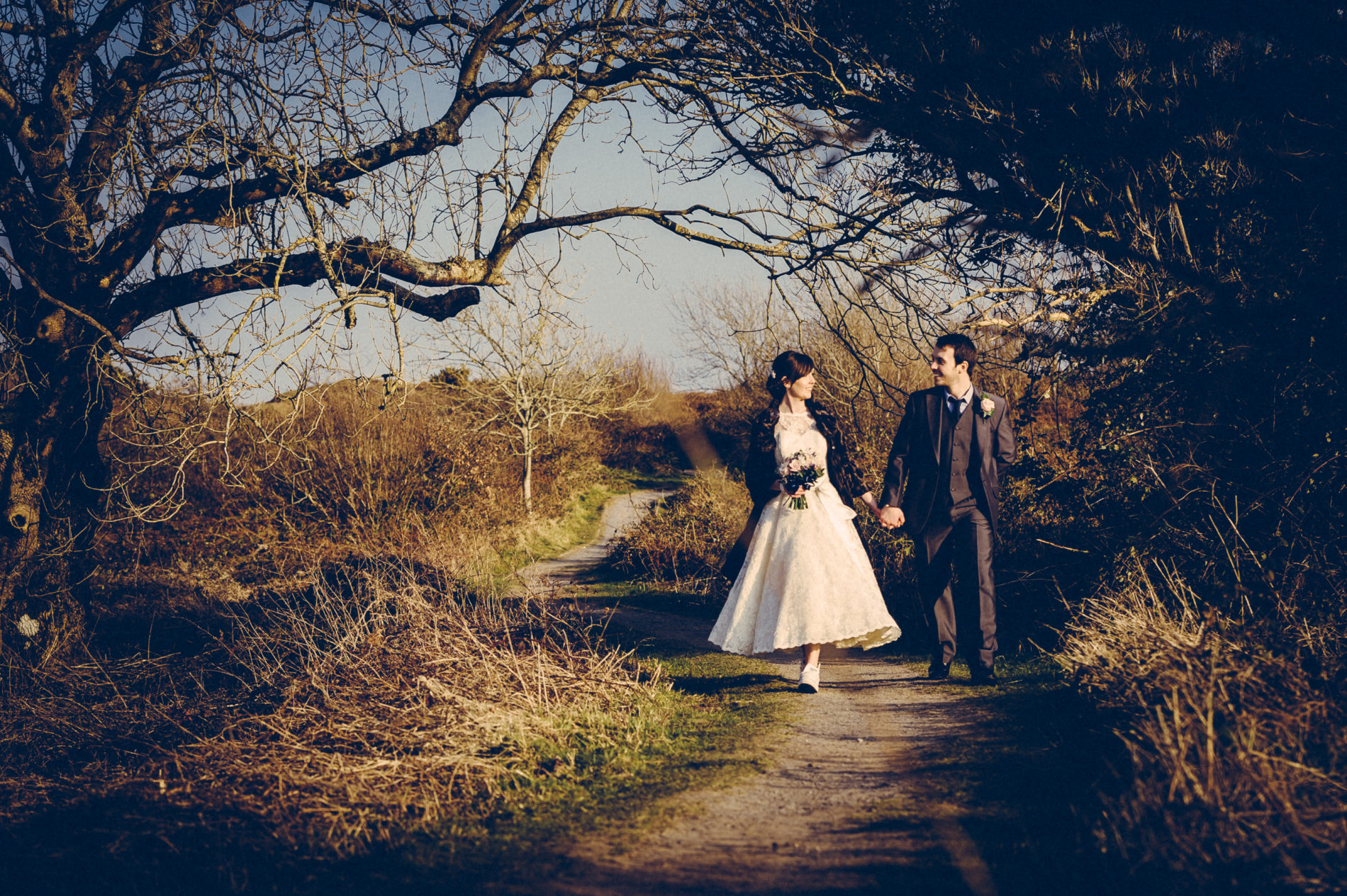 Wedding photo at Three Cliffs Gower by Martin Phillips Photography Porthcawl