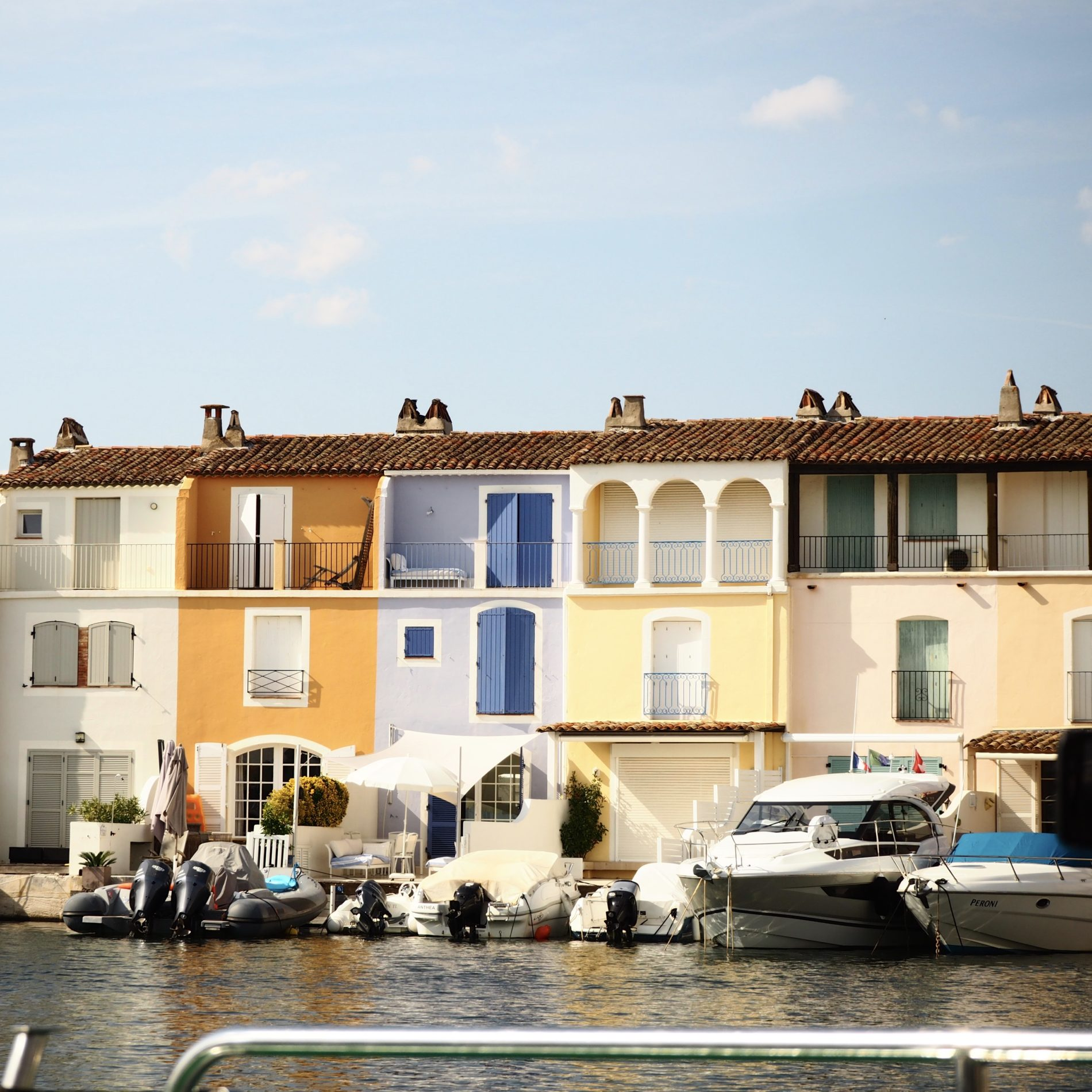 Pastel houses at Port Grimaud France