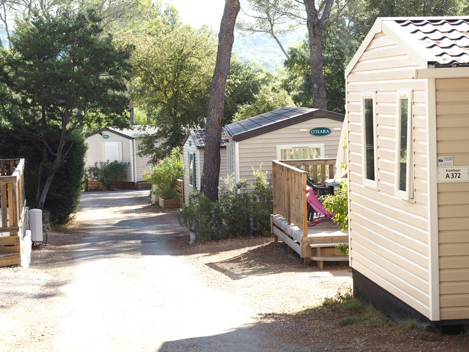 Eurocamp accommodation at Holiday Green in Frejus