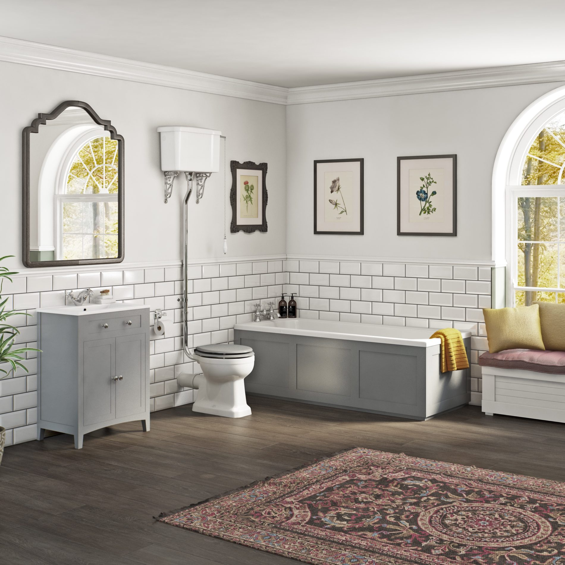 (AD) Nifty shades of grey: Adding colour to your bathroom